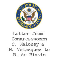 Letter from our Congresswomen