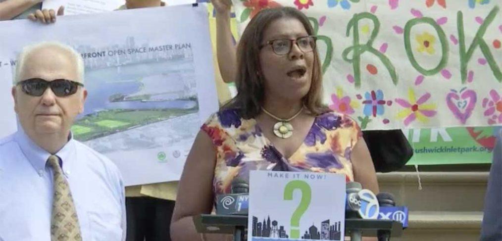City Hall Rally Aug 2016 - Tish James