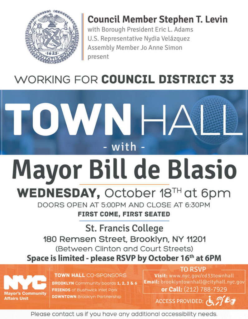 D33 Mayoral Town Hall