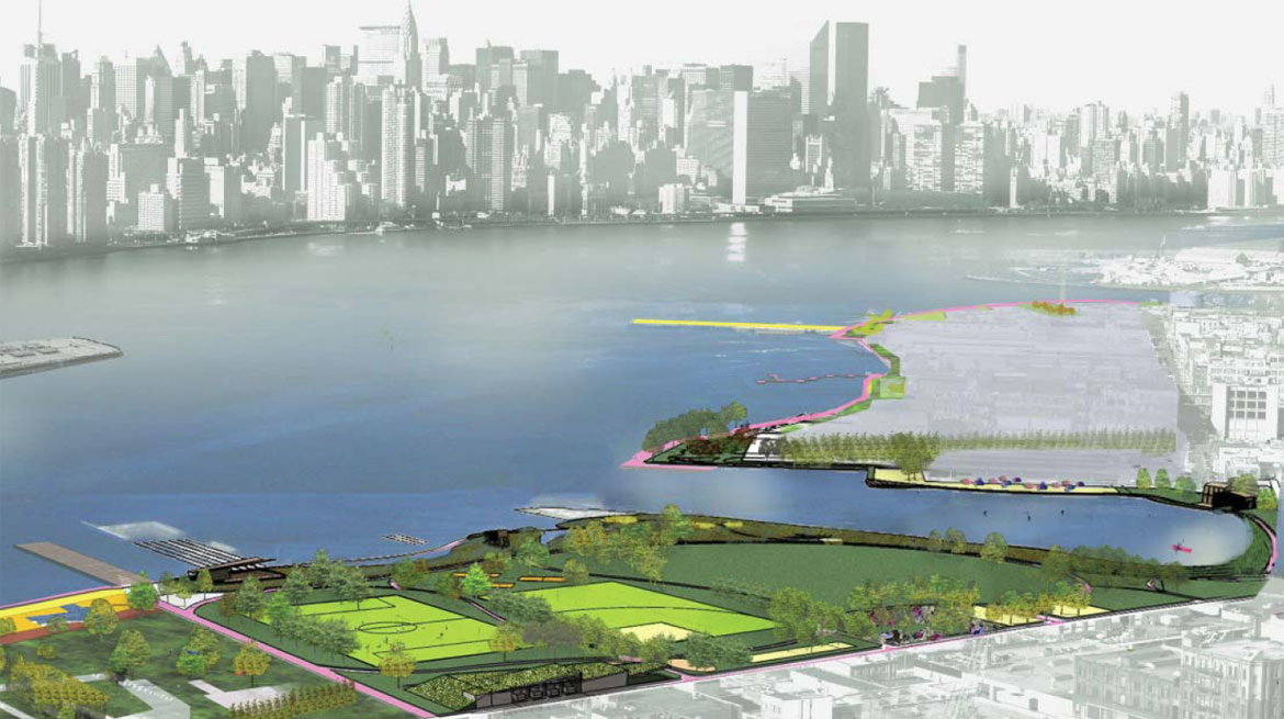 Greenpoint Williamsburg Waterfront Masterplan - Bushwick Inlet Park
