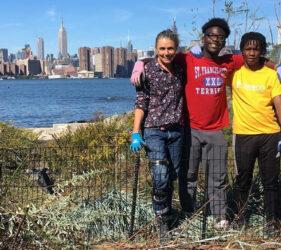 FBIP gardening volunteers & Katherine Thompson